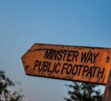 Minster way sign Sticker