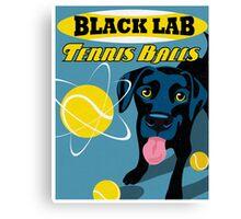 Labrador Retriever with Tennis Balls Retro Poster- original art Canvas Print