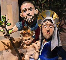 Papier-mâché Nativity by Yampimon