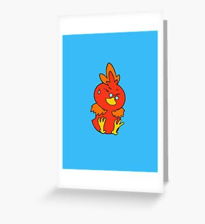 Flemmli/Torchic Greeting Card