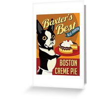Boston Terrier Dog Baker retro poster design- original art  Greeting Card