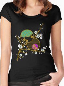 Blossom Kimono Fragment Women's Fitted Scoop T-Shirt