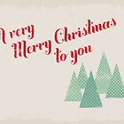 Retro Christmas Greetings Card by rperrydesign