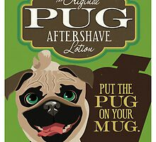 Pug Dog Aftershave Lotion retro poster design- original art  by DKMurphy