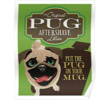 Pug Dog Aftershave Lotion retro poster design- original art  Poster