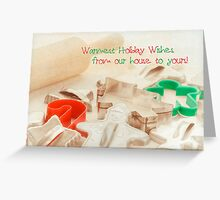 Vintage Christmas cookie cutters Christmas Card Greeting Card