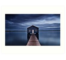 'The Boatshed' Art Print