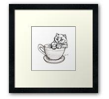 Kitten Mug Framed Print