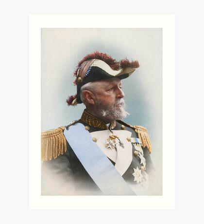 Oscar II, king of Sweden and Norway — ca 1880 Art Print