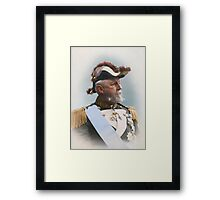 Oscar II, king of Sweden and Norway — ca 1880 Framed Print