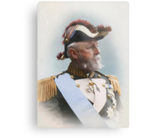 Oscar II, king of Sweden and Norway — ca 1880 Metal Print