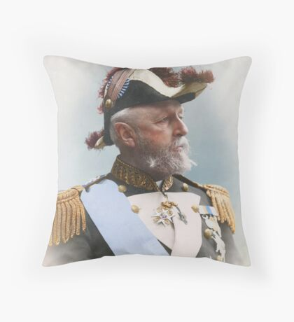 Oscar II, king of Sweden and Norway — ca 1880 Throw Pillow