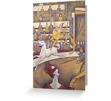 Georges Seurat - The Circus Greeting Card