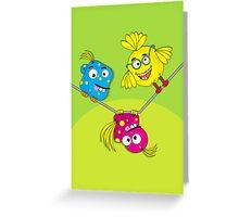 Wacky Bird Hangout Greeting Card