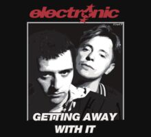 ELECTRONIC BERNARD SUMNER & JOHNNY MARR 1989 GETTING AWAY WITH IT SHIRT & POSTER by Shaina Karasik