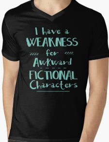 i have a weakness for awkward fictional characters Mens V-Neck T-Shirt