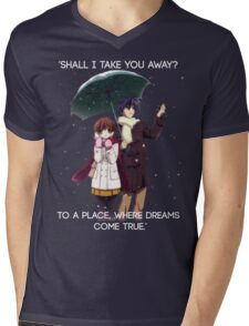 Shall I take you away? - Nagisa (Clannad) Mens V-Neck T-Shirt