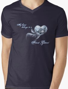 My heart belongs to a frost giant Mens V-Neck T-Shirt