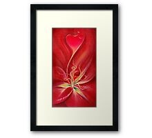 THE LILY - Invitation to the Inside Framed Print