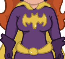 Adorable Purple Batgirl Sticker