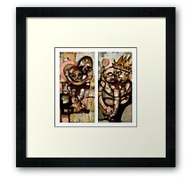Time Diptych Framed Print