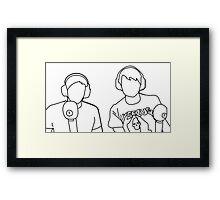 Dan and Phil on BBC Radio 1 Framed Print