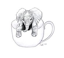 Little Elephant in a BIG mug Photographic Print
