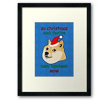 So Christmas - Doge Framed Print