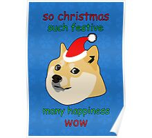 So Christmas - Doge Poster