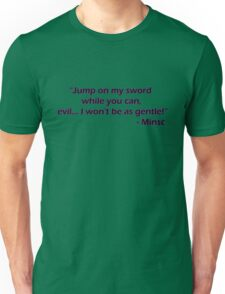 Minsc - Jump on my sword! Unisex T-Shirt