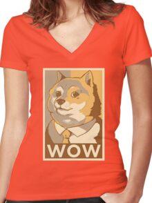 Doge for president  Women's Fitted V-Neck T-Shirt