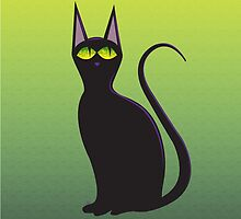 Cat with green eyes by AhaC