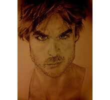 Ian Somerhalder Pencil Drawing Photographic Print