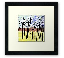 Mont Royal, Montreal, Autumn #3, watercolour Framed Print