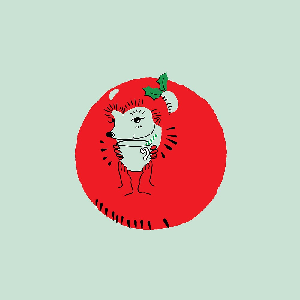 Holly Jolly Hedgehog by NightBloomer