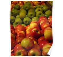 Colorful Apples, Whole Foods, Columbus Circle, New York City Poster