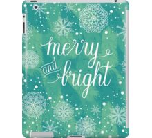 Merry and Bright hand lettering iPad Case/Skin