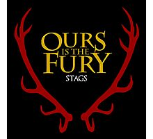 Ours is the Fury Stags Photographic Print
