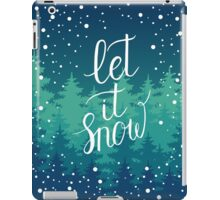 Let it snow hand lettering iPad Case/Skin