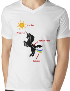 Why unicorns are farting rainbows (scientific explanation) Mens V-Neck T-Shirt