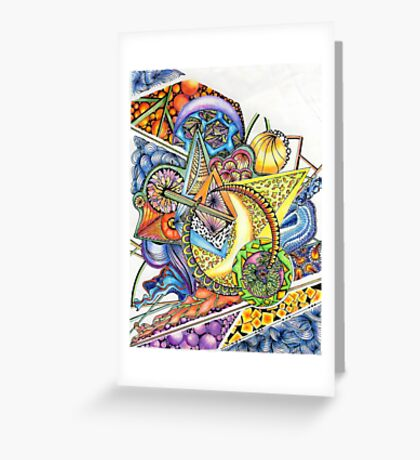 Coloured Zoodle Greeting Card