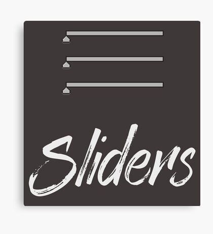 Sliders Canvas Print