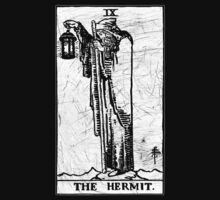 The Hermit Tarot Card - Major Arcana - fortune telling - occult by James Ferguson - Darkinc1