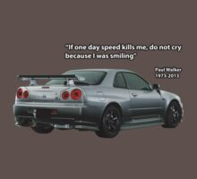 In Memory of Paul Walker - Nissan Skyline by carsaddiction