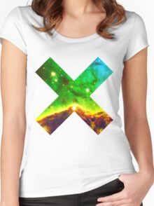 Hubble Dope Cloud Nebula Green Version | Mathematix by Sir Douglas Fresh Women's Fitted Scoop T-Shirt