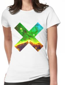 Hubble Dope Cloud Nebula Green Version | Mathematix by Sir Douglas Fresh Womens Fitted T-Shirt