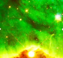 Hubble Dope Cloud Nebula Green Version | Mathematix by Sir Douglas Fresh Sticker