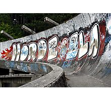 Bobsled course for the 1984 Winter Olympics, Sarajevo Photographic Print