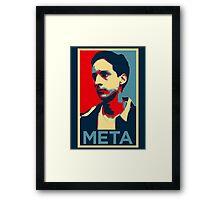 Meta Framed Print