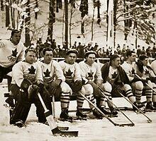 The Canadian Ice-Hockey Team by Bridgeman Art Library